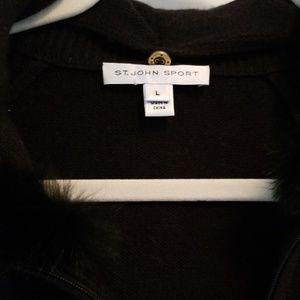 St. John Sport 100% Cashmere Sweater